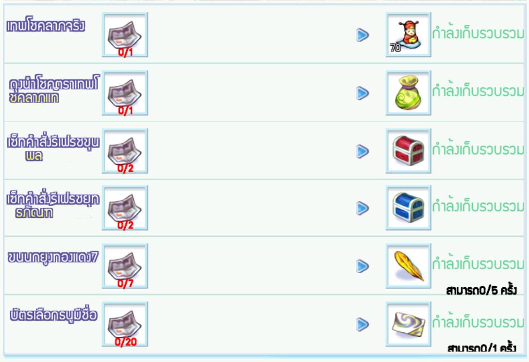 [TS Online Mobile] Daily Refil Reward เติมเงินผ่านระบบในเกม 300 บาททุกวัน รับไอเทมแถมไปเลย!!